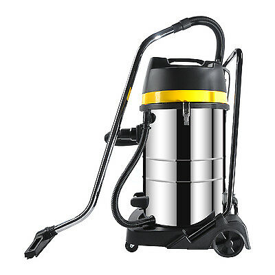 Powerful 3000W Wet Dry Vacuum Cleaner Industrial Shop Vac  Stainless Steel 80ltr