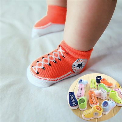 Cute Newborn Baby Girls Boys Anti-slip Shoes Infant Cotton Slipper Boots Socks