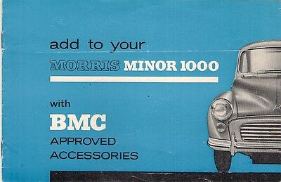 Morris Minor 1000 Accessories 1965-69 UK Market Sales Brochure