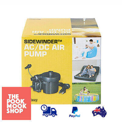 12v AC/DC Air Pump | Portable Camping Mattress Inflatable by Power/Car Outlet