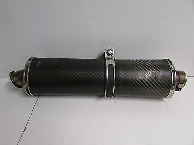 Aftermarket Oval Carbon Exhaust End Can Muffler Silencer Slip On