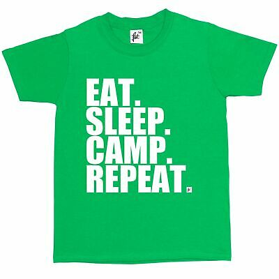 1Tee Kids Boys Eat Sleep Bake Repeat T-Shirt