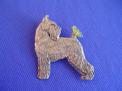 Schnauzer Standing Pewter pin BUTTERFLY #28A Dog Jewelry by Cindy A. Conter