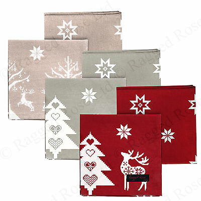 Ragged Rose Christmas Cotton Napkins Pack of 4