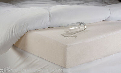 Washable Waterproof Terry Towelling Mattress Protectors Non Noisy Crinkle Free