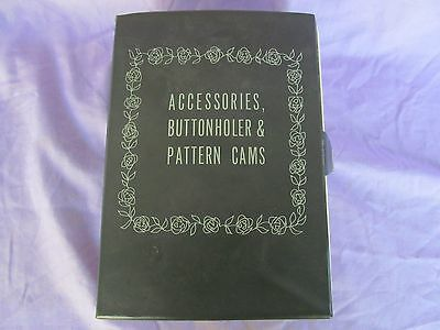 Kenmore Accessories Buttonholer 14 pattern cams with case