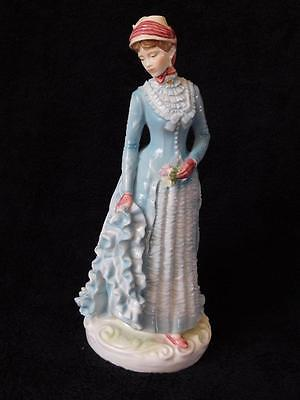 """Royal Worcester Figurine """"the Bustle"""" 1878 Limited Edition"""