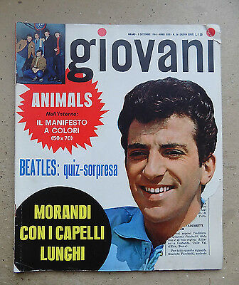 "Rivista Musicale ""giovani"" 1966 N.36 The Beatles Morandi  - A10"