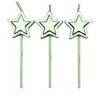 Silver Star Candles - Set of 8 - PME
