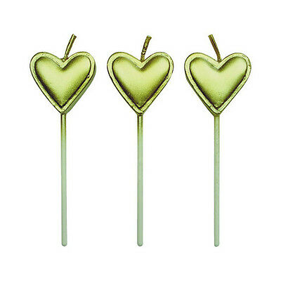 Gold Heart Candles Pack Of 8 By PME