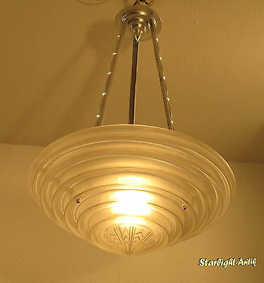 Beautiful And Rare French Art Deco Chandelier 1925 - Signed: G. Leleu