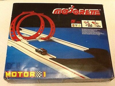 Majorette Motor Play Set Raceway Track With Loops & Pull Back Car Made In France