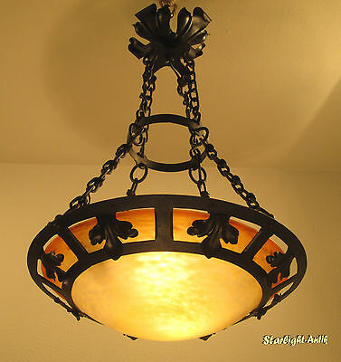 Marvelous French Art Deco Chandelier 1925 - Signed: Schneider