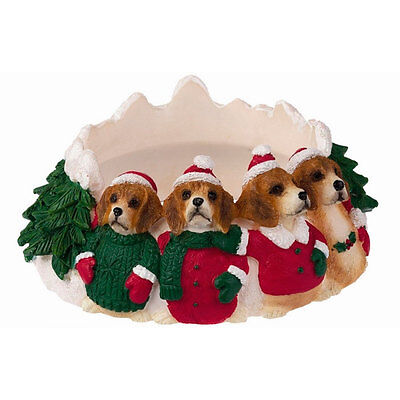 Beagle Holiday Candle Topper Ring