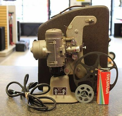 Bell and Howell 8mm Film Regent 122 Model L Movie Projector w/ Case & Bulbs