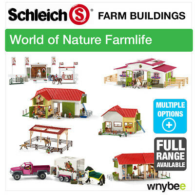 NEW! SCHLEICH 2016 FARM BUILDINGS Choose From BARN, HORSE STABLE & RIDING CENTRE
