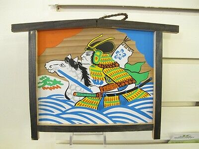 #78 Vintage Japanese Wood Ema Prayer Board Ujikawa River Vanguard
