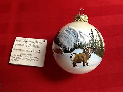 Bighorn  Ram Christmas Ornament Handpainted By Leonette  Ford
