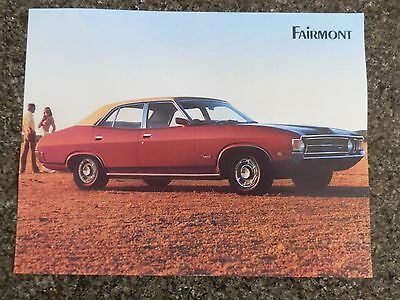 Ford 1972 Xa Fairmont Sales Brochure   100% Guarantee.