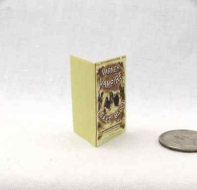 1:12 Scale PENNY DREADFUL VARNEY THE VAMPIRE Dollhouse Miniature Illustrated