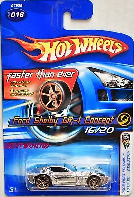 Hot Wheels 2005 First Editions Ford Shelby Gr-1 Concept Fte #16/20