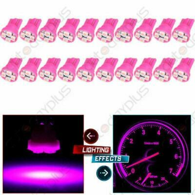 20x Pink/Purple 4-3020-SMD LED Bulbs T10 194  Dash Panel Cluster Light For Chevy