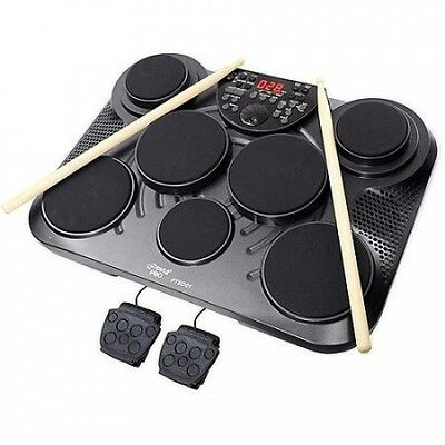 Pyle PTED01 Electronic Table Digital Drum Kit Top with 7 Pad Digital Drum Kit. D