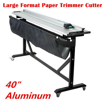 """40"""" Aluminum Alloy Rotary Large Format Paper Trimmer Cutter with Support Stand"""