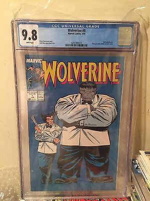 Wolverine #8 CGC 9.8 Hulk appearance White Pages NM/M