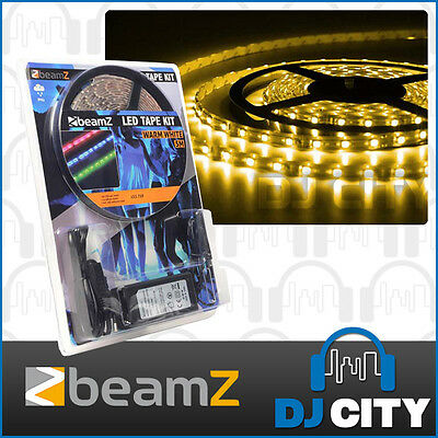 Warm White LED 5m LED Strip Tape Light 12volt  with 240volt Power Supply