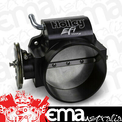 HOLLEY BLACK 105mm LS THROTTLE BODY HO112-583 SUIT LS 4 BOLT WITH STRAIGHT BORE