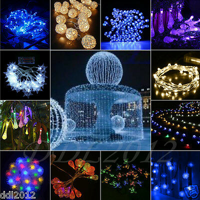 10-200LED Solar/Battery Powered String Fairy Lights Wedding Xmas Party Decor