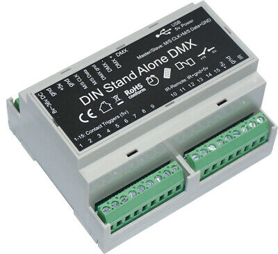 Chromateq LPSA-DIN Stand Alone DMX Interface with Software