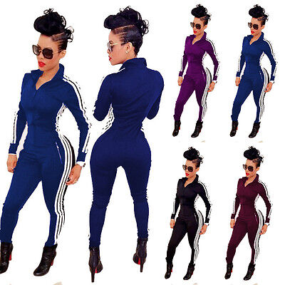 Women Clubwear Playsuit Long Sleeve Bodycon Party Jumpsuit&Romper Pants Trousers