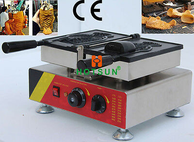 Commercial Non-stick 110V 220V Electric Ice Cream Taiyaki Fish Waffle Maker Iron