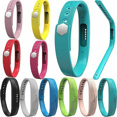 Silicone Wrist Strap Bracelet Band For Fitbit Flex 2 All-Day Activity Tracker BD