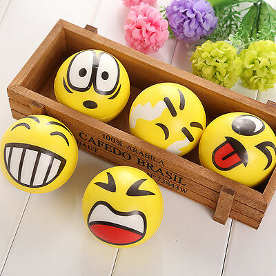 1X Anti Stress Smile Face Reliever Ball Autism Mood Squeeze Relief ADHD Toy Gift