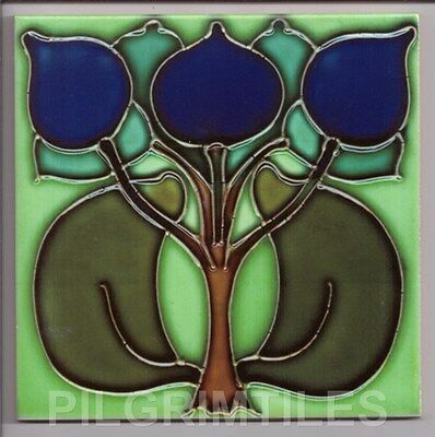 Metric Porcelain Tile Art Nouveau Wall Floor Kitchen Bathroom Splashback Ref 2
