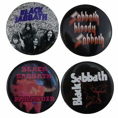 4 x 38mm Black Sabbath Button Badges New Official Band Merch