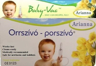 Arianna Baby Vac Orrszívó Nose Infant Boy Girl Child Vacuum Nasal Aspirator
