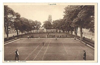 WIGTOWN The Square, Tennis Courts, Old Postcard by Richmond, Wigtown PO, Unused