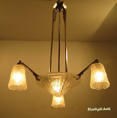 Marvellous French Art Deco Chandelier 1925 - Signed: J.robert