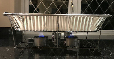 5 X Disposable Chafing Dish Sets Food Pan Catering Food Parties Events Bbqs