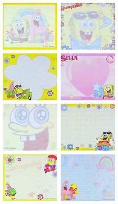 Set Of 8 Designs 40 Sheets Spongebob Squarepants Notepad/memo Pad/cute Paper