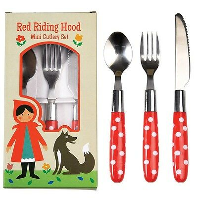 dotcomgiftshop RED RIDING HOOD CHILDREN'S CUTLERY SET