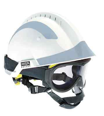 MSA F2 X-Term White Helmet And full pack of Silver Stickers c/w Responder goggle