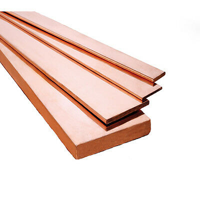 C101 Copper Bar Copper Flat Bar Metal Bar MILLING WELDING METALWORKING or CRAFT