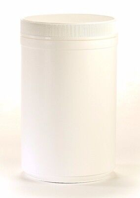 30 oz Wide Mouth White Round Plastic Jars with Lids (4 pack)