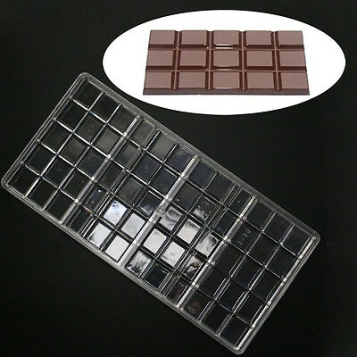 Polycarbonate Chocolate Bar Molds PC Mould Clear Hard Plastic Candy Mold Mould