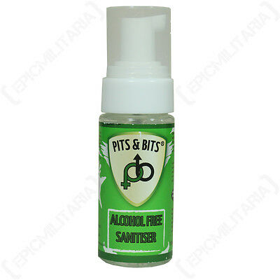 PITS AND BITS ALCOHOL FREE SANITISER - Camping Sanitizer Hiking Festival 55ml